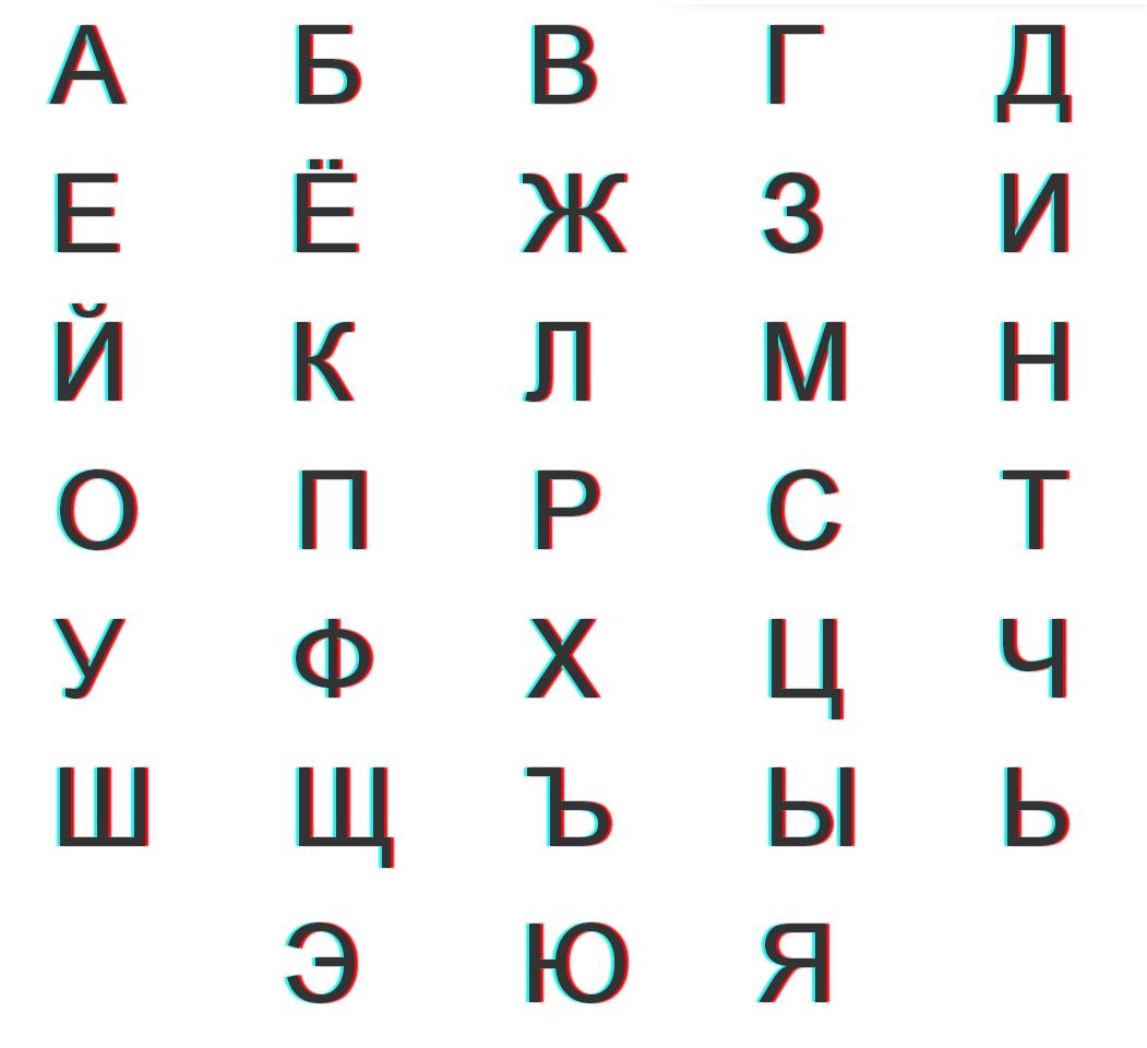 Русский алфавита в картинках